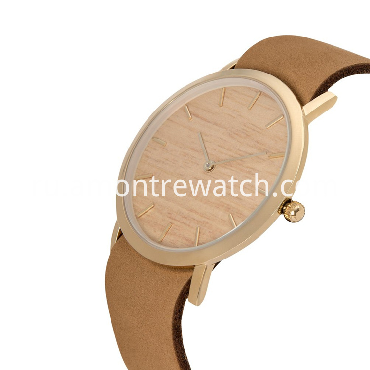 wood dial watch_