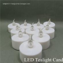 Changement de couleur des bougies de thé sans flammes LED