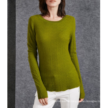 17PKCS502 2017 knit wool cashmere knitted lady sweater
