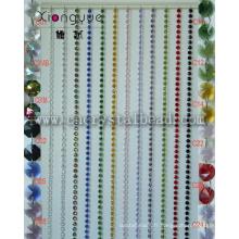 Rideau de perles de cristal fenêtre décorative imperméable à l'eau