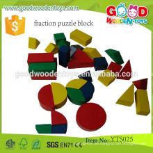 Juguetes de juegos de madera Bloques educativos preescolares Bloques de rompecabezas de fracciones
