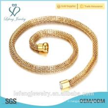 Vente en gros de bijoux en coton chaîne chaîne chaîne en acier inoxydable
