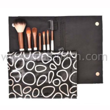7PCS Makeup Brush with Leather Cosmetic Bag