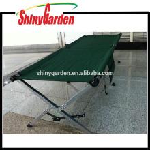 Amazon 600D cama plegable portátil para acampar w / Carring Bag ejército militar Senderismo médica cama para dormir cama hamaca cuna con cerradura