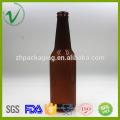 PET vierge matériel personnalisé transparent 330ml rond bouteille en plastique pour l'emballage du vin