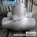 Clapets anti-retour de joint de pression d'extrémité de Bw d'acier de fonte (H64)