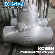 Válvulas de retención de sello de presión de extremo Bw de acero fundido (H64)