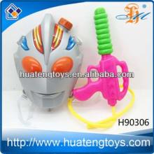 Les plus récents jouets sportifs en plastique d'été pomper le pistolet à eau avec sac en gros sac à dos de jouets pour armes à eau pour enfants, série d'armes à eau H90306