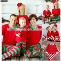 Wholesale China factory supply 100% cotton christmas pajamas kids christmas pajamas in red and white color