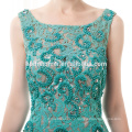 Verde atado frisado curto vestido de noite elegante vestido de baile barato 2017