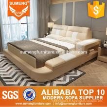 Alibaba Chine luxe italien haut grain en cuir + PVC chambre meubles ensembles