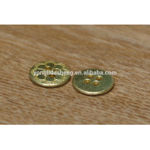 round plain garment button small metal buttons for jeans