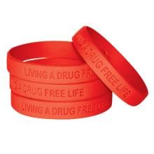 Custom Silicone Rubber Bracelet for Advertising