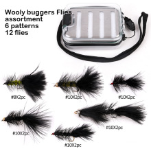 Novo Design Wooly Buggers Fly Pesca Moscas