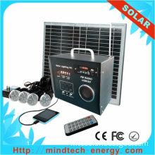 LED  light    Solar power home lighting kit with FM radio