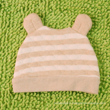 Chapeau rayé bébé coton bio