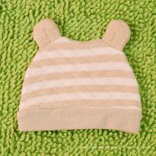 Bebé recién nacido de algodón orgánico rayado Hat