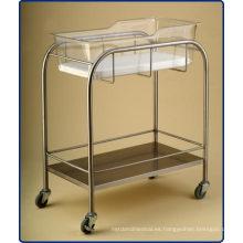 Cuna de hospital de acero inoxidable con estante (THR-B001)