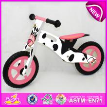Juguete de madera lindo de la bicicleta del diseño 2014 para los niños, juguete de madera barato de la bici para los niños, bicicleta de madera del balance de la venta caliente para la fábrica W16c077 del bebé