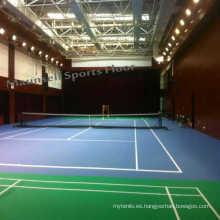 Pista de tenis de tenis profesional profesional de interior con estándar de exportación