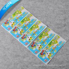 El precio de fábrica nuevo diseño etiqueta la etiqueta engomada de papel de la goma
