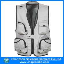 China Wholesale Cheap Sliver Motorcycle Vest for Men