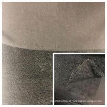 Tecido de lã de veludo Shu colado com tecidos de malha T / C