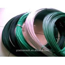 Alambre revestido del PVC del calibre 12 / fábrica del alambre del PVC