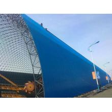 Remise de stockage de charbon de structure métallique de dôme de grande envergure