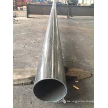Круглый трубчатый оцинкованный стальной столб с фланцем