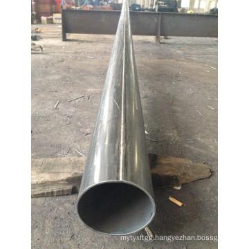 Round Tubular Galvanized Steel Post Pole with Flange