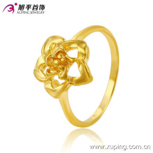 Hot Selling Fashion Gold-Plated Flower Jewelry Finger Ring in Nickel Free for Women -10290