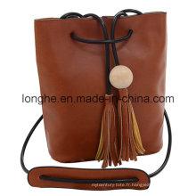 Designer Tassels Drawstring Fashion Lady Handbag (LY0154)