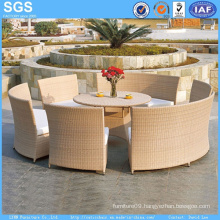 Good Quality Garden Furniture Round Rattan Dining Set