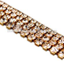 Moda de alta qualidade Metal Rhinestone jóias Cadeia
