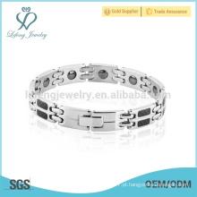 Nova pulseiras de prata para as mulheres, pulseiras de aço inoxidável jóias por atacado