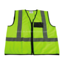 En471 Standard Popular Reflective Waring Reflective Vest with Zipper
