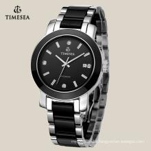 Hot Sale Men′s Wrist Watch with Black Ceramic Band 72117