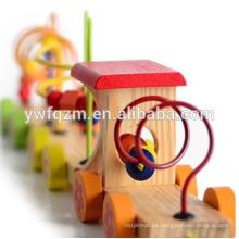 Mentes de arte venta caliente niños juguete tren de madera