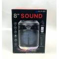 ALP-811 8 Inch Custom Logo Portable 8 Inch Subwoofer Woofer Sound Home Wireless Speaker With LED Light
