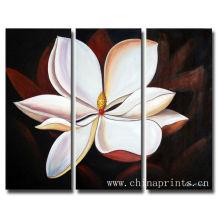 Bequemes abstraktes Blumen-handgemachtes Ölgemälde