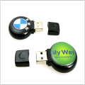 Venta al por mayor Unidad flash USB circular de Mini Epoxy