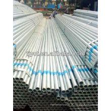 Tubos de aço inoxidável galvanizados de 1/2 polegada