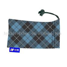 Vente en gros claire affaire de lunettes / écran sérigraphié sacs de lunettes de soleil / poche en microfibre