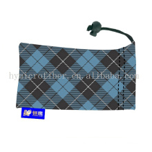 Wholesale clear eyeglass case /silk screen printed sunglasses bags/microfiber pouch