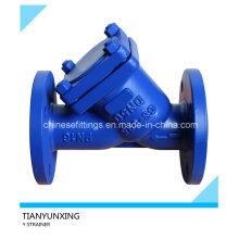 DN50 DIN Литой стальной фланцевый фильтр с эпоксидным покрытием