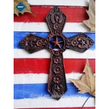 cast iron cross with lone star