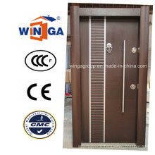 Classic Turkey Style Security Steel Wood MDF Veneer Door (W-T34)