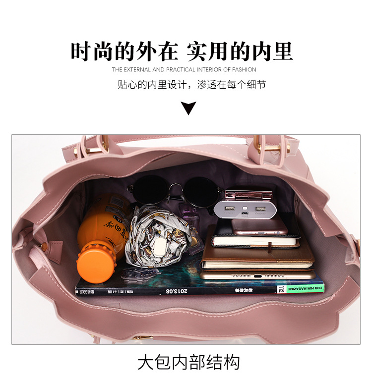 lady shoulder handbags with Inner-Bag