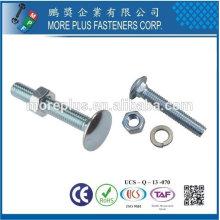 Taiwan Stahl Edelstahl DIN603 Schlossschraube Rundkopf Ribbed Halsschraube Pflugschrauben Wagenbolzen